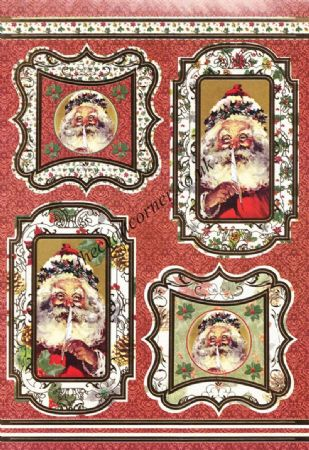Die Cut Foil Christmas Santa Toppers and Backing Card from Craft UK Ltd